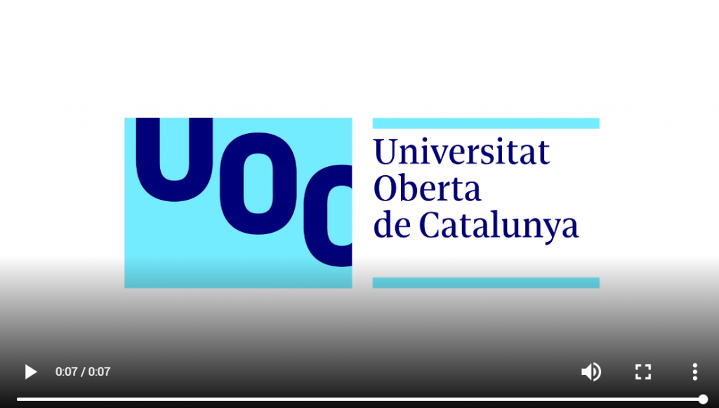 marchio multimediale dell'università catalunya